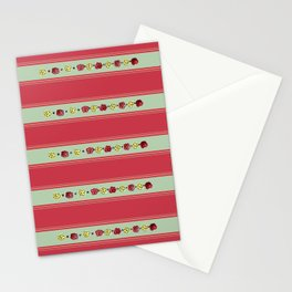 A Rosey Outlook Red Stationery Cards