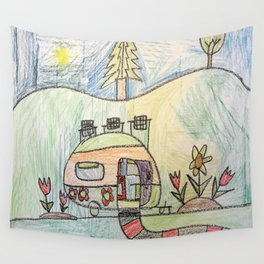 Camping in Style! Wall Tapestry