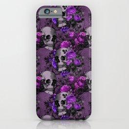 Gothic Flower Skulls iPhone Case