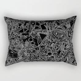 White/Black #1 Rectangular Pillow