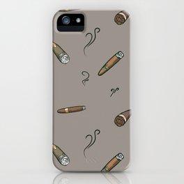 Smoky cigar pattern iPhone Case