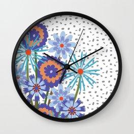 BOUQUET BOUNTY Periwinkle Wall Clock