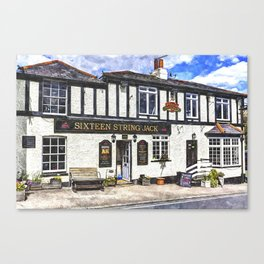 The Sixteen String Jack Pub Canvas Print