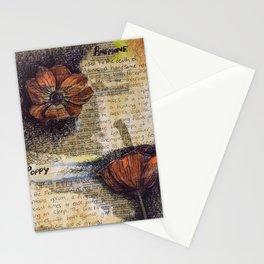 Anemone Poppy collage Stationery Cards
