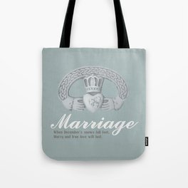 December Marriage Tote Bag