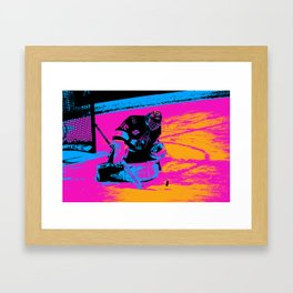And the Puck Stops Here! - Hockey Goalie Framed Art Print