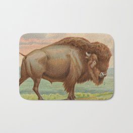 Vintage Illustration of a Buffalo (1890) Bath Mat