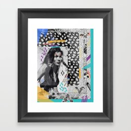 KATE MOSS TRIBE Framed Art Print