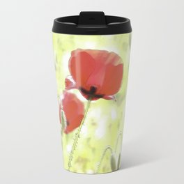 Poppies in the bright sunshine Travel Mug