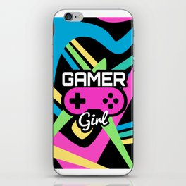 Gamer Girl Neon iPhone Skin