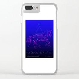 Da Vinci Horse Revealed Clear iPhone Case