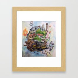 Howls Moving Castle Painting 2 Framed Art Print