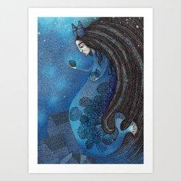 The Seal Woman Art Print