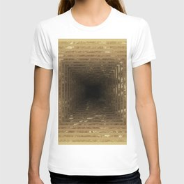 Marble's geometric tunnel in pearl color T-shirt