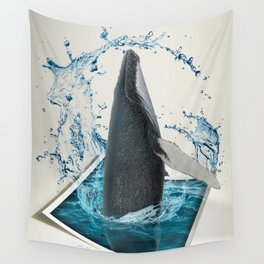 Dancing Whale Wall Tapestry