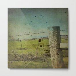 Wild West Fence  Metal Print