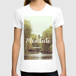 Meditate in the park T-shirt