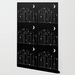 Nightowls (Ghost Town) - Line Art Drawing Wallpaper