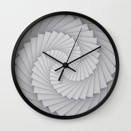 Abstract Spyral Wall Clock