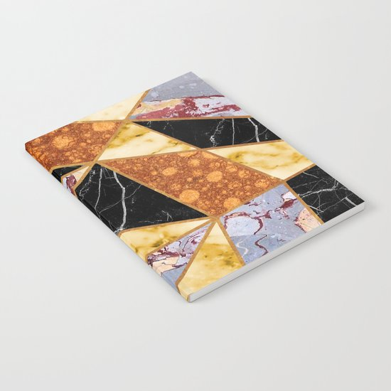 Abstract #458 Molten Metal & Marble Notebook