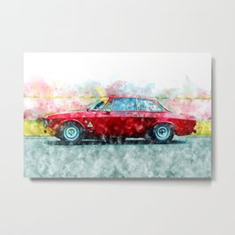 Alfa Giulia Racing Metal Print