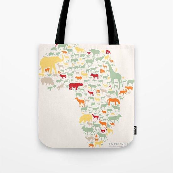 Endangered Safari - without animal names Tote Bag