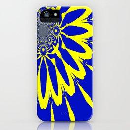 The Modern Flower Blue & Yellow iPhone Case