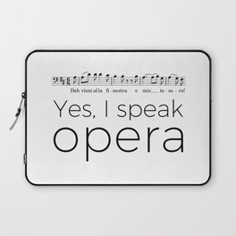I speak opera (baritone) Laptop Sleeve