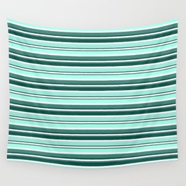 Mint Sampler Stipe 2 Wall Tapestry
