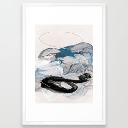 abstract painting IX Framed Art Print