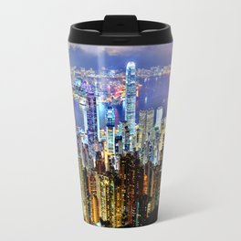 Hong Kong City Skyline Travel Mug