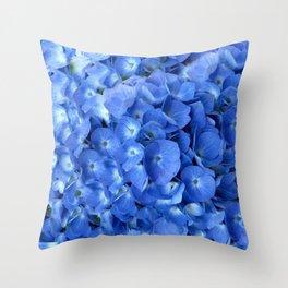 Gorgeous Baby Blue Hydrangeas  Floral Art Throw Pillow