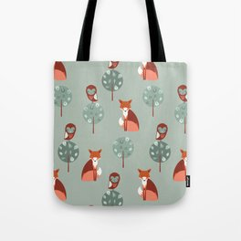 Fox Woods Tote Bag