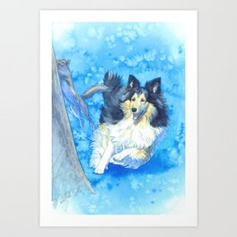 The Prince and the Squirrel Art Print