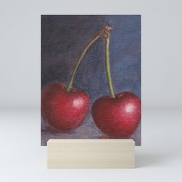 Cherries - Oil Painting Mini Art Print