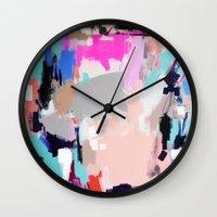 hollywood Wall Clocks featuring Hollywood by kristinesarleyart
