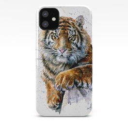Tiger watercolor iPhone Case