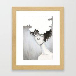Her Unspoken Delight Framed Art Print