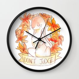 How To Be A Decent Person - Rabbit Wall Clock