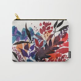 Floral Design, Flowers, Exotic, Vibrant Color, Watercolor flowers, Decor Carry-All Pouch