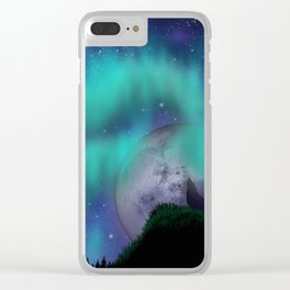 Midnight Howl Clear iPhone Case