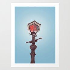 Hotel Lamp Post Art Print