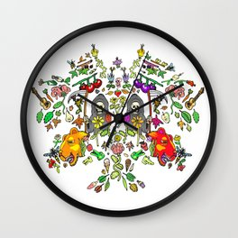Mirror Spring & Reapers Wall Clock