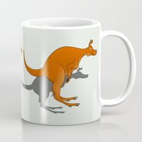 kangaroo Mugs featuring Kangaroo by mailboxdisco