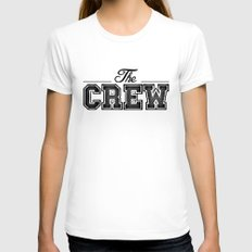 THE CREW  Womens Fitted Tee White SMALL