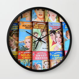 Vintage Romance Collage Wall Clock