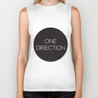 one direction Biker Tanks featuring One Direction by harrystyless