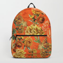 Vintage & Shabby Chic - Warm Sunny Yellow Flower Garden Backpack