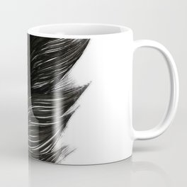 Psalm 91:4 Black Feather Coffee Mug