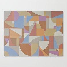 1 Inch Manila Grid Canvas Print